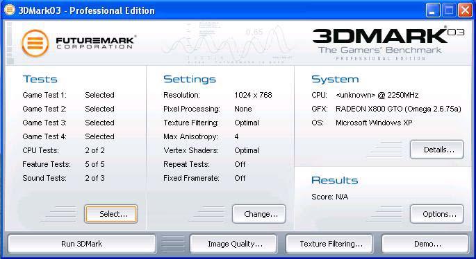 3DMark03  Free 3.6.0