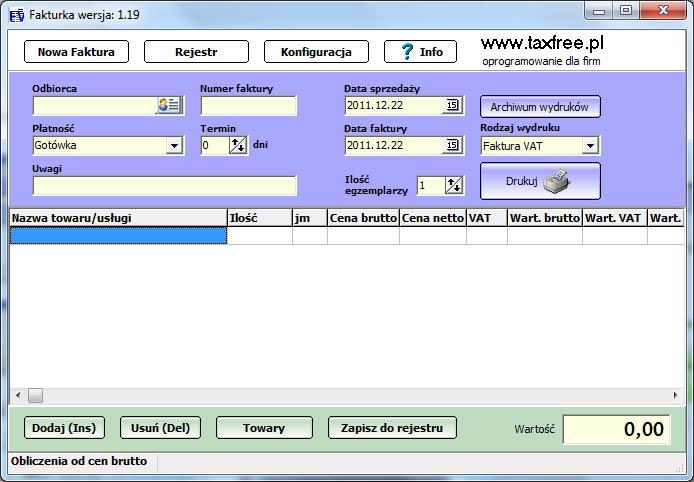 f7f38023 Fakturka 1.46. Fakturka to bezpłatny program służący do fakturowania ...
