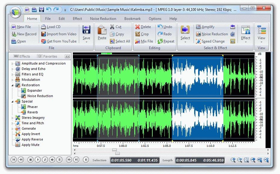 Free Audio Editor 2014 9.0.1