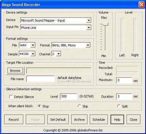 Mega Sound Recorder 1.6