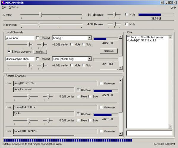 NINJAM 0.06 beta