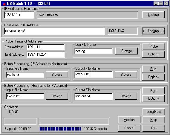NS-Batch 0.6e