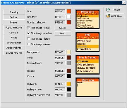 Theme Creator Pro for Sony Ericsson 3.1.260