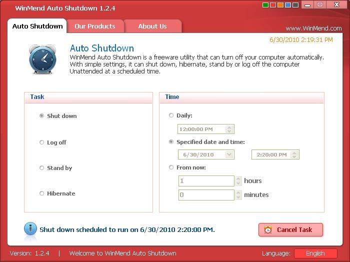 WinMend Auto Shutdown 1.3.7